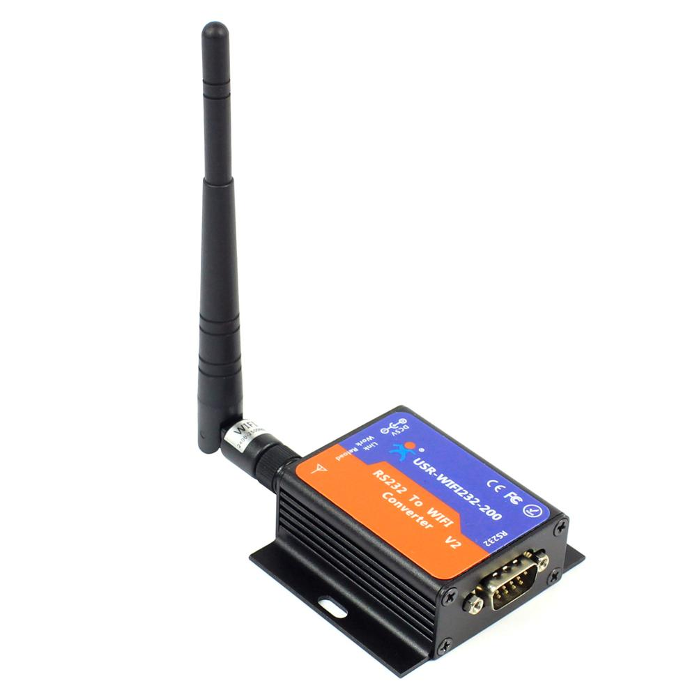 USR WIFI232 200 V2 Data Transparent Transmission RS232 Wireless Device Server RS232 to WiFi Converters TCP