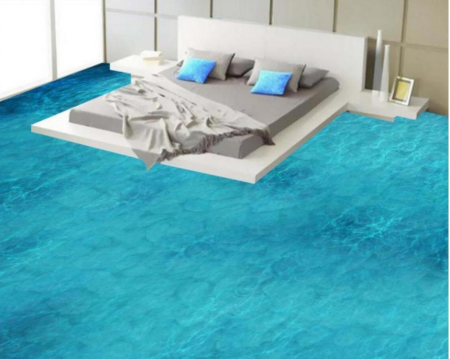 Seawater stone floor Photo wallpaper mural floor Home Decoration Custom Photo self-adhesive 3D floor beibehang custom photo floor painted