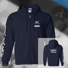 Estonia Estonian mens hoodies and sweatshirt casual polo sweat suit streetwear tracksuit nations fleece zipper Eesti EST EE 2017