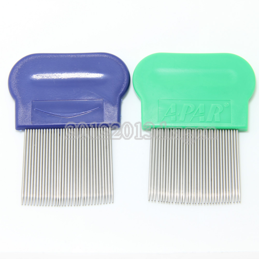 Pack of 2 PiecesTerminator Lice Comb Kids Hair Rid Headlice stainless steel Metal Teeth Net Flea comb nit brush in Combs from Beauty Health