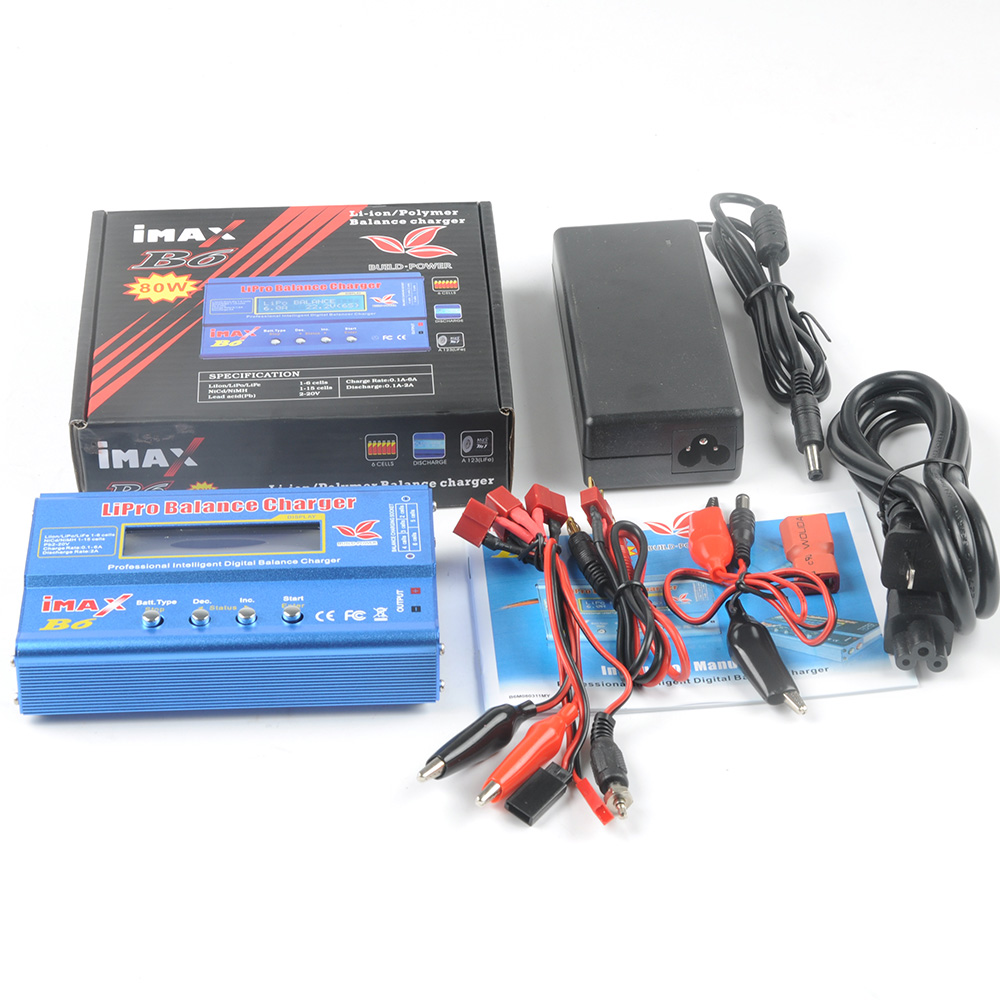 2S 3S 4S 6S Li-ion,Lipo Battery 80W Imax B6 Intelligent Digital Rapid Balance Charger for RC Drone Quadcopter Model ocday 1set imax b6 lipo nimh li ion ni cd rc battery balance digital charger discharger new sale