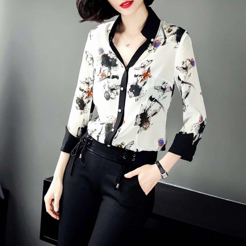 Luxe Partie De Européenne Design Style D1258 Blouses 2019 Mode Femmes Marque Piste amp; Chemises Vêtements 0qpZPw