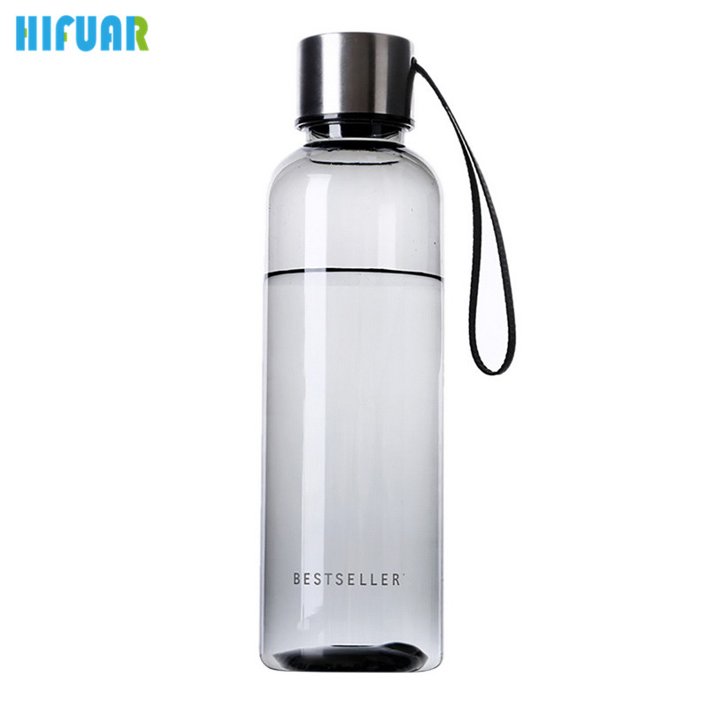 HIFUAR High Quality Fashion Breakproof Water Bottle 22cmx6.5cm Travel Camping Lemon Juice Drinkware Readily Space Bootl 500ml ...