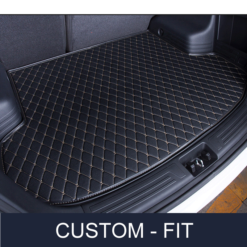 Simulated Carbon Fiber Intro-Tech CA-258-CF Large Custom Fit Cargo Area Floor Mat for Select Cadillac XT-4 Models w//Bench Down