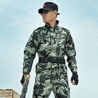 4XL Nueva Outwear Camuflaje Táctico Uniforme Militar de Los Hombres Verdes del Ejército Hombres CS Trajes de Camuflaje Militar Caza Top + pantalones un Conjunto