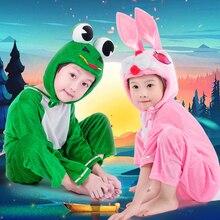 Farm Animal Supplies Halloween Costume For Kids Farm Animal Birthday Party Costume Pig/Bear/Dog Jumpsuit Pajamas For Grils/Boys animal farm