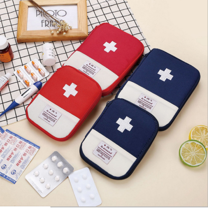 HNKMP 1PC Portable Outdoor Travel First Aid Kit Medicine Bag Home Small Medical Box Emergency Survival Pill Case S/L