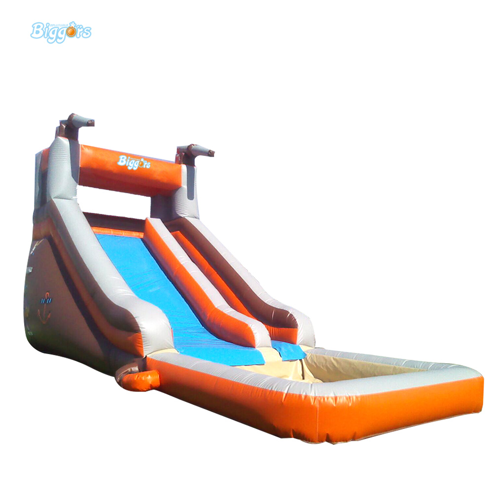 Inflatable Biggors Amusement Park Inflatable Slide With Pool For Water Games popular best quality large inflatable water slide with pool for kids