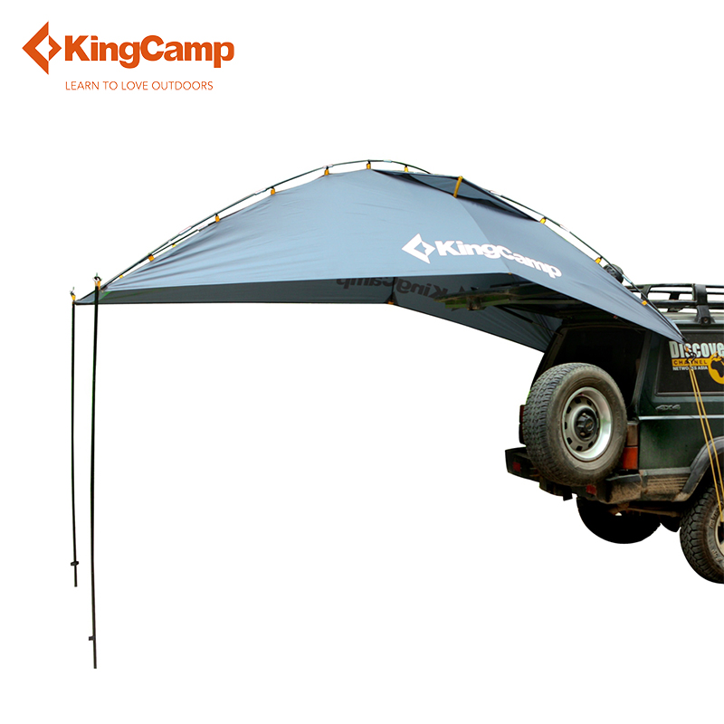 KingCamp Durable 4-Person Car Sun Shelter for Family Self-Driving Camping High Quality Portable Outdoor Tent for Car-travel outdoor camping hiking automatic camping tent 4person double layer family tent sun shelter gazebo beach tent awning tourist tent