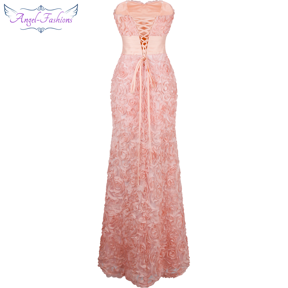 Angel fashions Off Shoulder Chiffon Flowers Ruched Long Evening ...