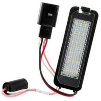 2 Pcs LED Error Free Car License Plate Light For VW Golf MK5 MK6 Passat Lupo