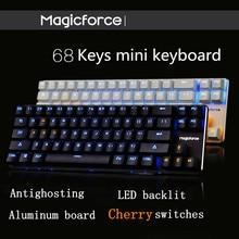 Magicforce Smart 68 Tasten Hintergrundbeleuchtung antighosting USB mechanische Gaming-Tastatur Alu Alloy Kirsche MX Blau/Schwarz Schalter Doppel PCB