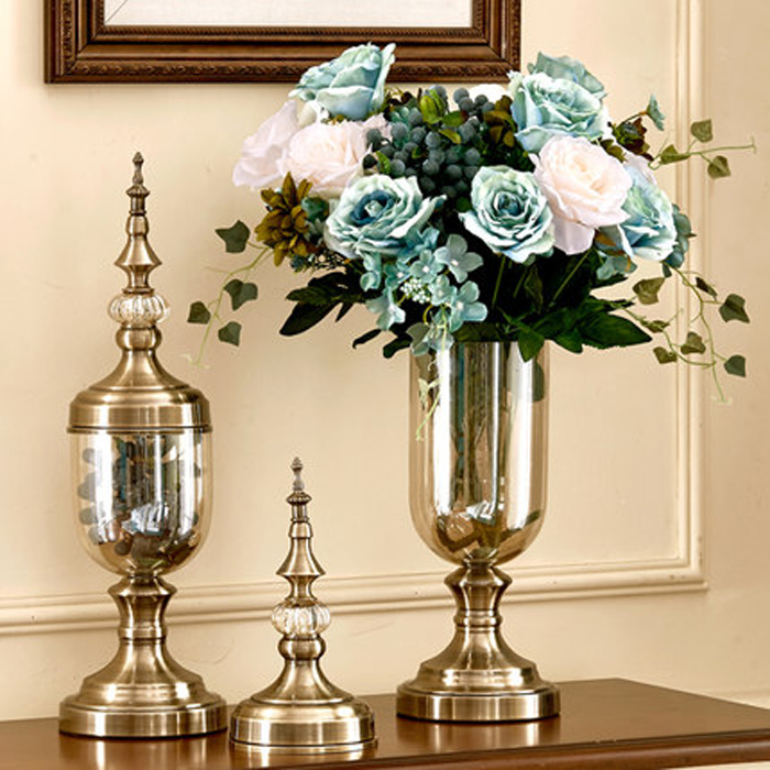 Flower Vase Bronze Tall Glass Vases Decoration Vase Candy Jar Tapletop Vases  Decorations Living Room Decoration  In Vases From Home U0026 Garden On ... Part 42