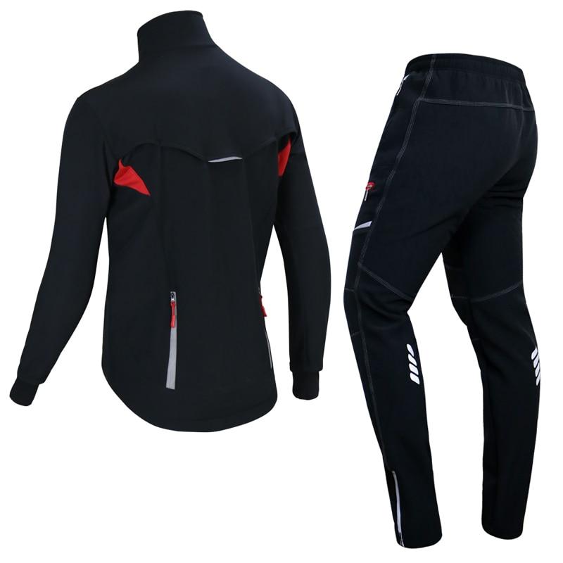 2019 nouveau hiver polaire thermique veste de cyclisme manteau réfléchissant vélo vêtements ensemble Sportswear coupe vent vtt vélo maillots vêtements - 2