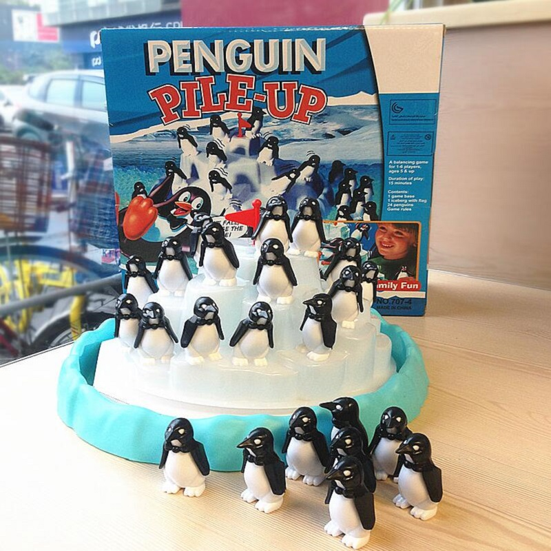 Penguin Iceberg Balance Toy Funny Family Party Game For Ages 4 And Up