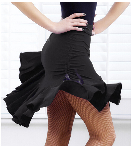 New Latin Salsa Tango Rumba Cha Cha Ballroom Dance Skirt Adult Skirt Sides Drawstring Latin Dance Costume Competition Skirt
