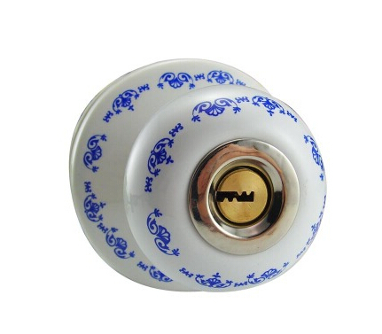 Ceramic lock the door when indoor European ball lock hold hand lock copper core S-036