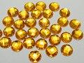 200 золотых акриловых граненых круглых драгоценных камней 10 мм без отверстия