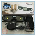 New Original 2pair ZF2300 Active RF 3D Glasses instead zf2100 For Optoma RF Projector HD26 3DW1 HD33 HD25  Include Emitter
