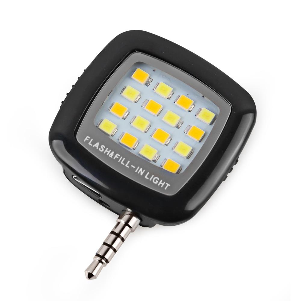 Nov mini LED luč Selfie Flash Light Selfie Fill Light prenosni 3,5MM - Kamera in foto - Fotografija 2