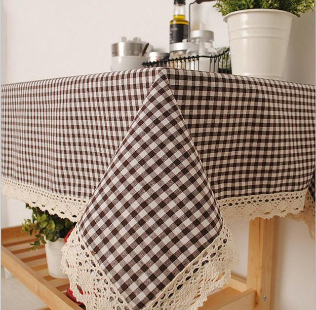 Algodn forro Manteles para mesas cuadradas polvo vintage Tabla de