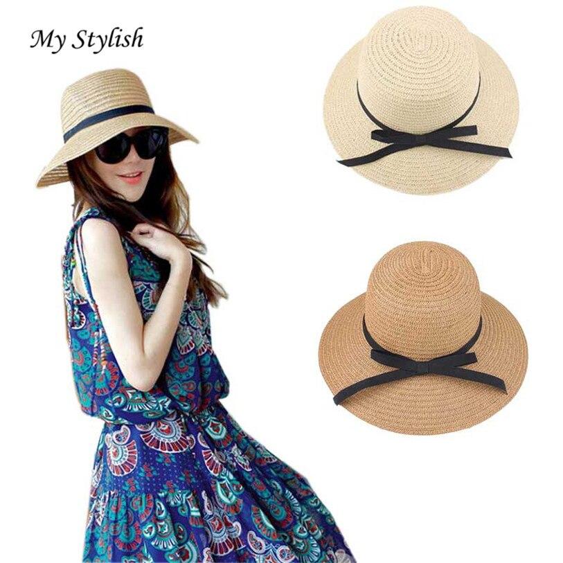 2018 Summer Hat Ladies Women s Fedora Beach Sun Hats Floppy Wide Large Brim  Cloche Bowler Pure Woolen Capat High Quality Dec 27-in Sun Hats from  Apparel ... 9cd66cc1c6e