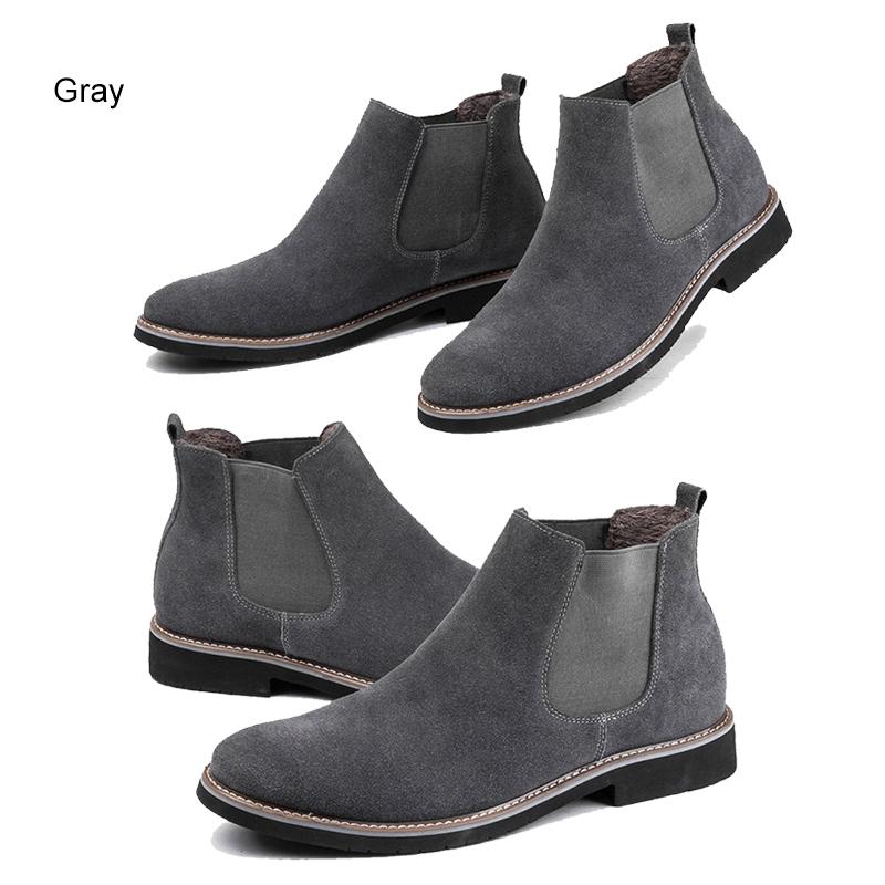 a4b5c112fea31 Leyou Suede Boots Men High Top Shoes Brands Boots Shoes Winter Men ...