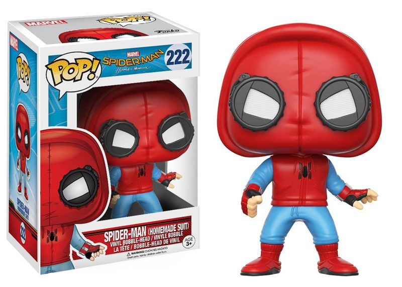 Funko pop Official Spider-Man Homecoming - SpiderMan Homemade Suit Vinyl Action Figure Collectible Model Toy with Original Box  official funko pop marvel x men logan wolverine vinyl action figure collectible model toy with original box