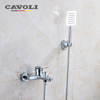Bathroom Shower Set Brass Chrome Wall Mounted Shower Faucet Water Tap LT 330