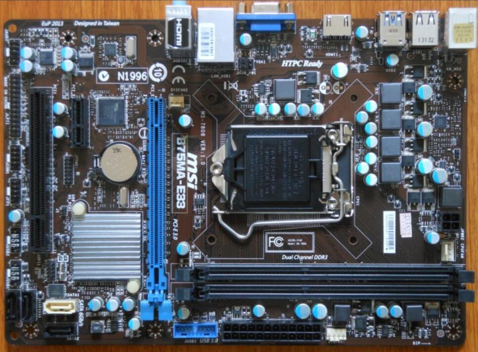 original motherboard for MSI B75MA E33 LGA 1155 DDR3 for i3 i5 i7 cpu 32GB USB3
