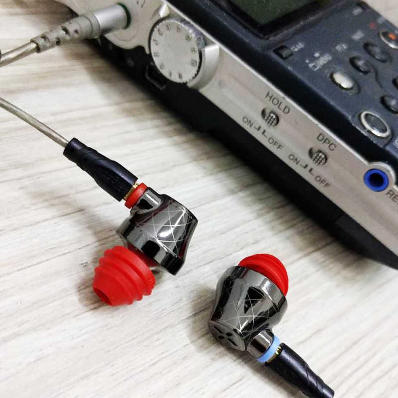 SENFER DT6 Piezoelectric Hybrid Earphone HI FI Ear Bud In Ear Stereo with Microphone Metal DJ Headset MMCX Detachable Cable