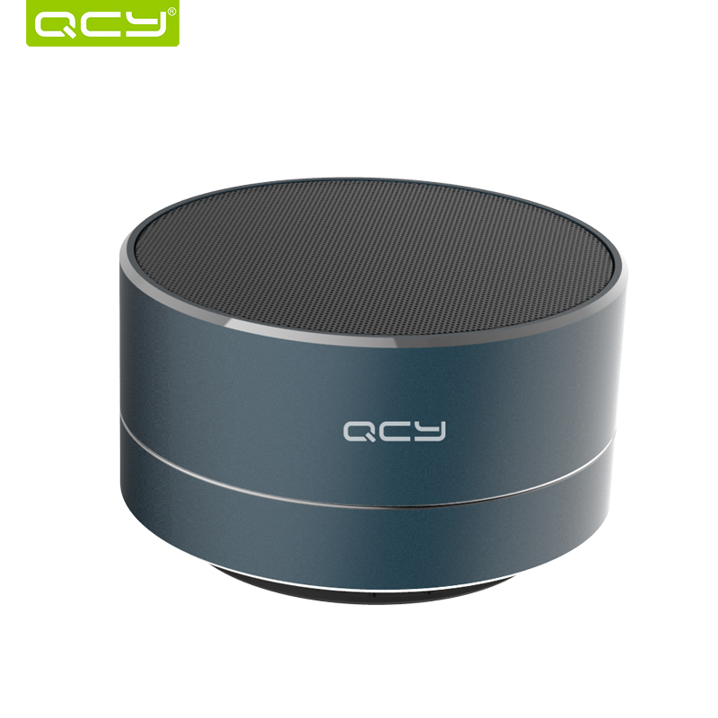 QCY A10 bluetooth speaker metal mini portable speakers subwoof sound with microphone handsfree support TF card FM radio AUX