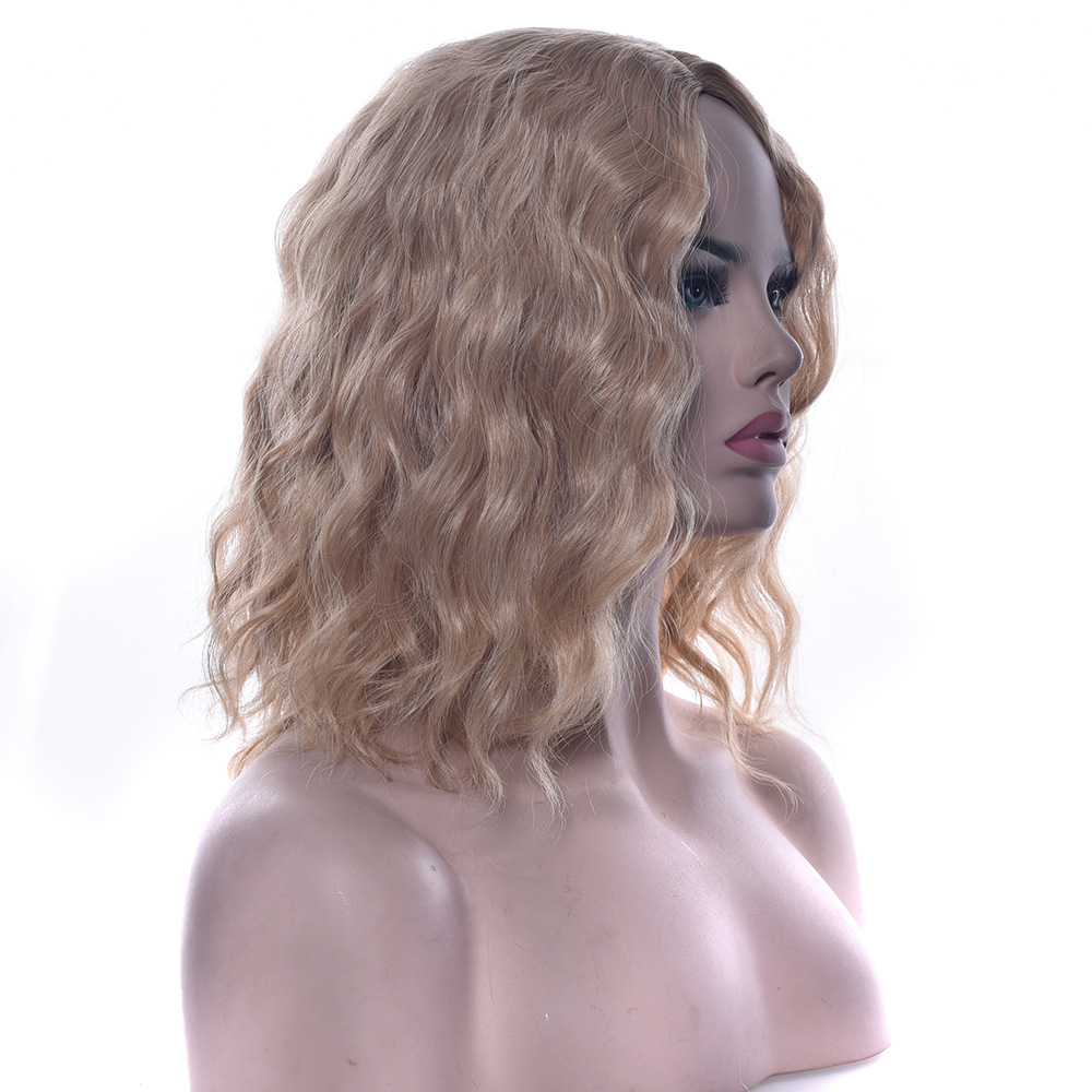 Soloowigs Curly Middle Part High Temperature Synthetic Women's Wig