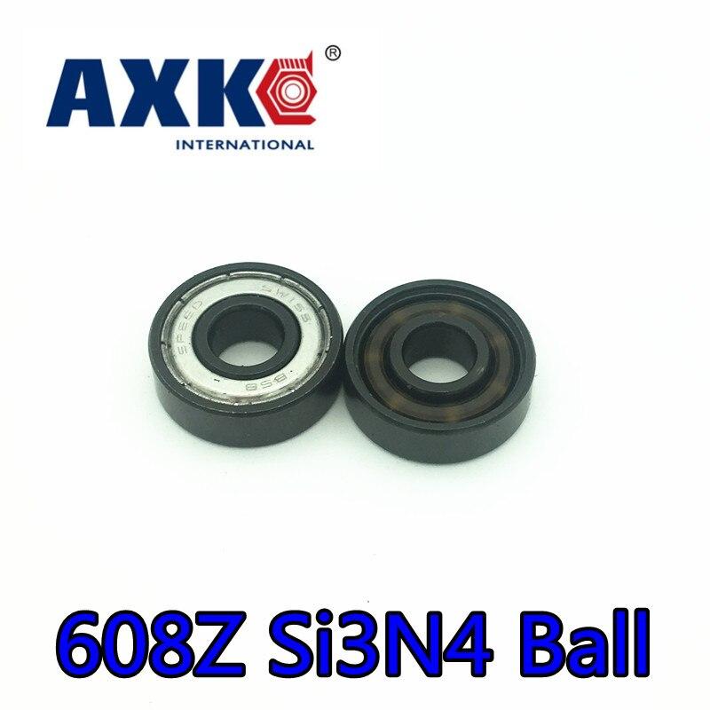 2018 Fast Speed 608z Bsb Abec-11 Black Si3n4 Balls Hybrid Ceramic 6 Beads Ball Bearings 608 Skate 8*22*7mm Hand Spinner Bearing tt tf ths 02b hybrid style black ver convoy asia exclusive