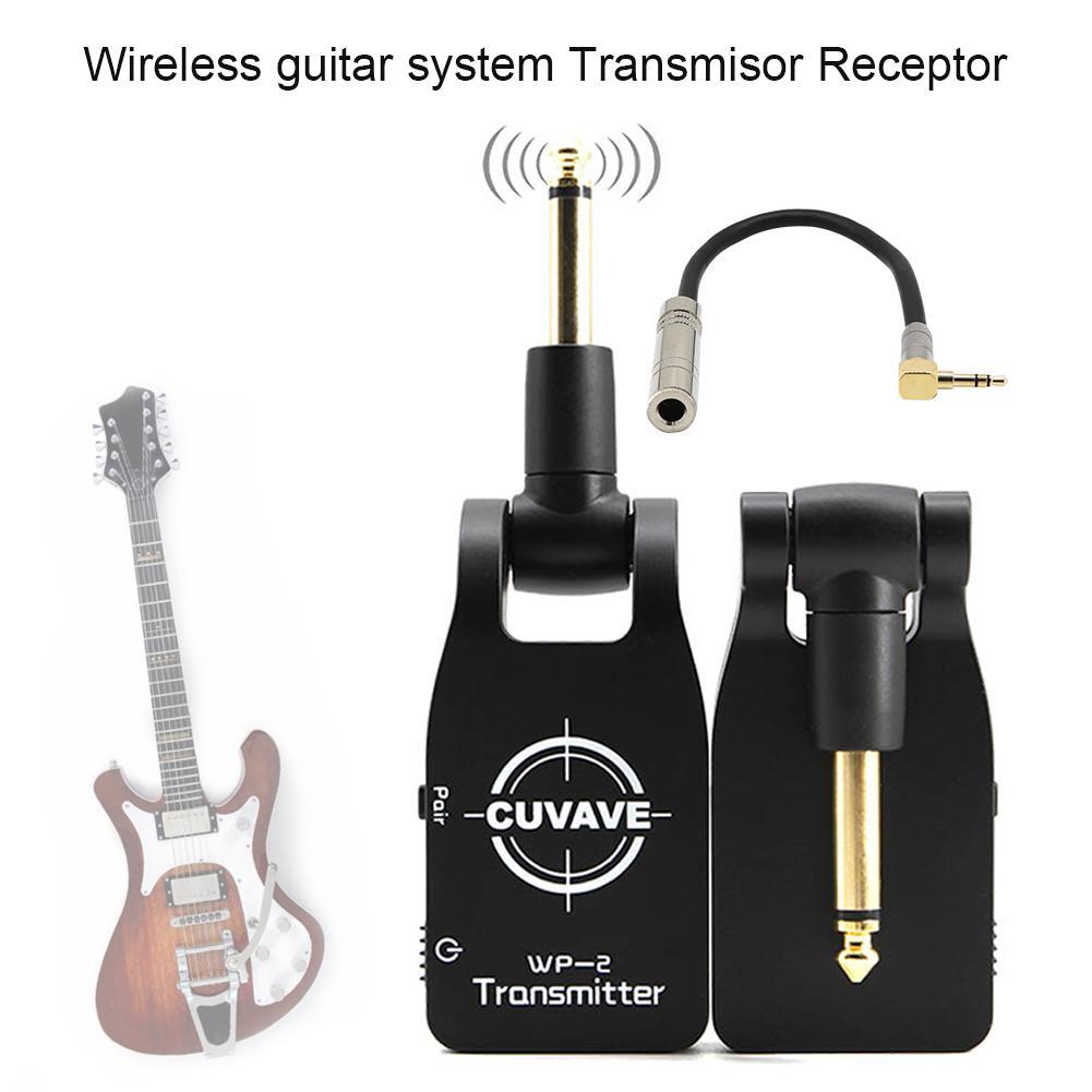 Récepteur de Transmisor de récepteur d'émetteur numérique de système de guitare sans fil de 2.4GHZ pour la basse de guitare électrique