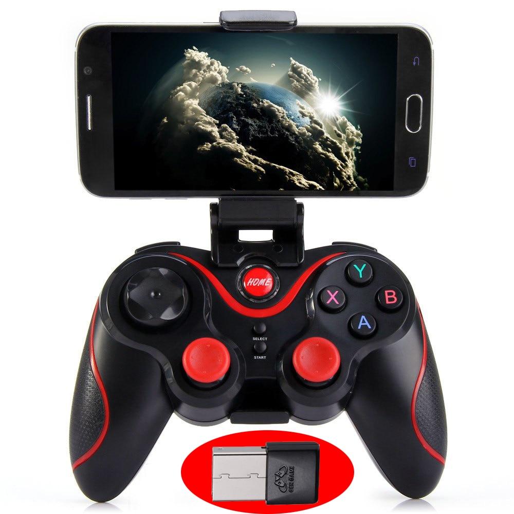 ¡Caliente! GEN GAME S3 controlador inalámbrico Bluetooth 3,0 S3 juego Gamepad Joystick para PC Android Smartphone PK T3 S5 controlador
