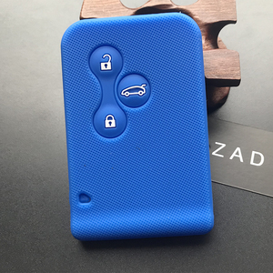 Image 4 - ZAD gumy silikonowej samochód karta klucz skrzynki pokrywa dla Renault Clio Megane Grand Scenic 3 przycisk obudowa kluczyka do samochodu przypadku powłoki