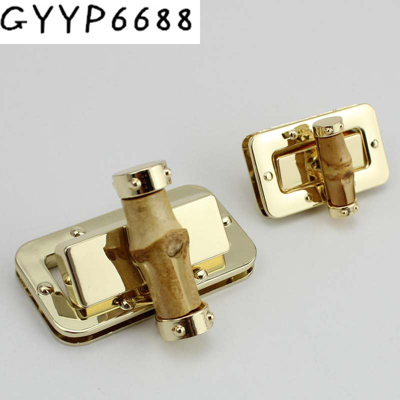20sets And 10sets New Arrive Bags Lock Hardware Accessories Female Bag Metal Bag Buckle Twist Lock Bag Deduction Bamboo Lock