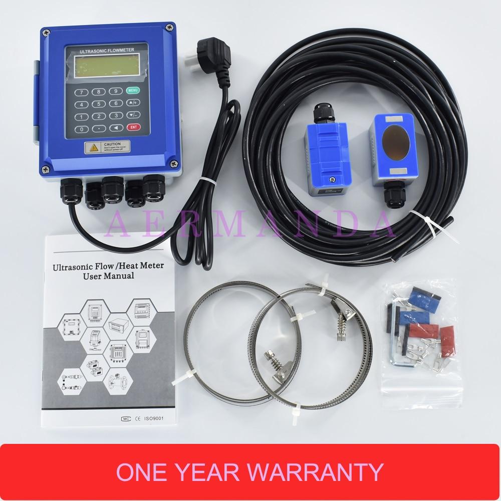 Numérique À Ultrasons Débitmètre D'eau Mur Monté Pince Sur TM-1 Transducteur DN50mm-700 TUF-2000B RS485 interface IP67 protection