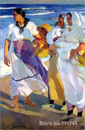Paysage peinture valencienne pêcheurs Joaquin Sorolla y Bastida art reproduction de haute qualité peint à la main