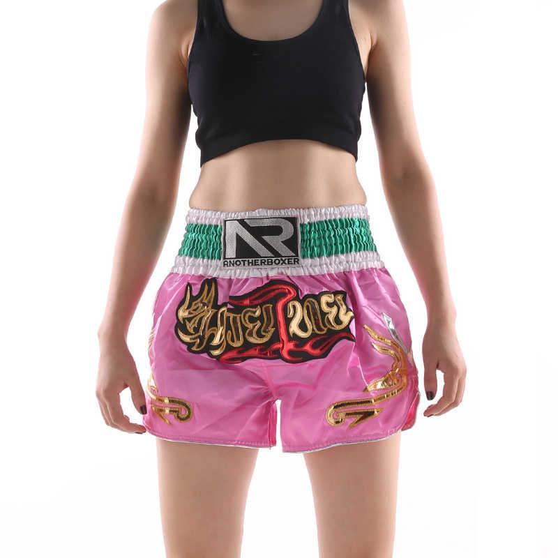 Mens Womens Muay Thai Boxing Sparring MMA Short Kickboxing Fitness Trunks Sports