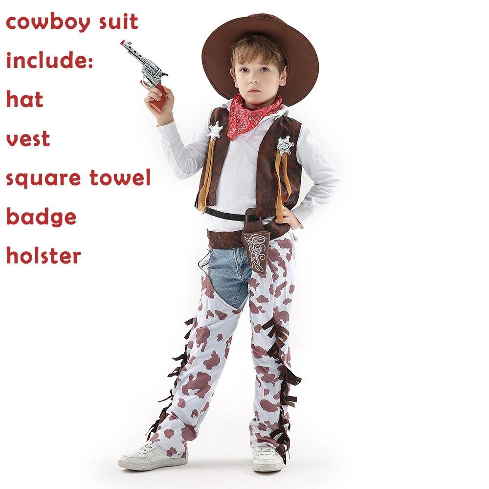 Cosplay Costume For Kids Boys Girls Cowboy Outfit Fancy Dress Hand Towel Anak Character Kostum Untuk Laki Dan Perempuan Tahun Baru Gaun