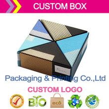 customized your brand logo jew packaging box custom paper display triangle design boxs ](China)