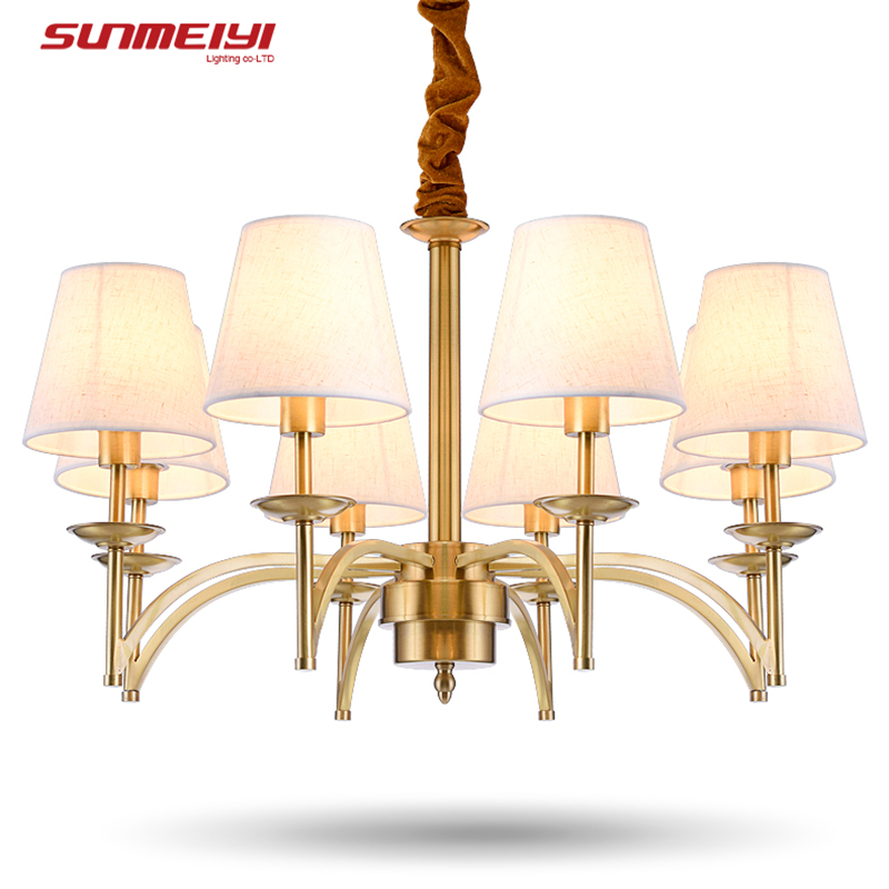 Modern Luxury Chandelier Modern Lamp With Lampshade Pendant Chandelier Light Fixtures <font><b>lustres</b></font> de teto para sala