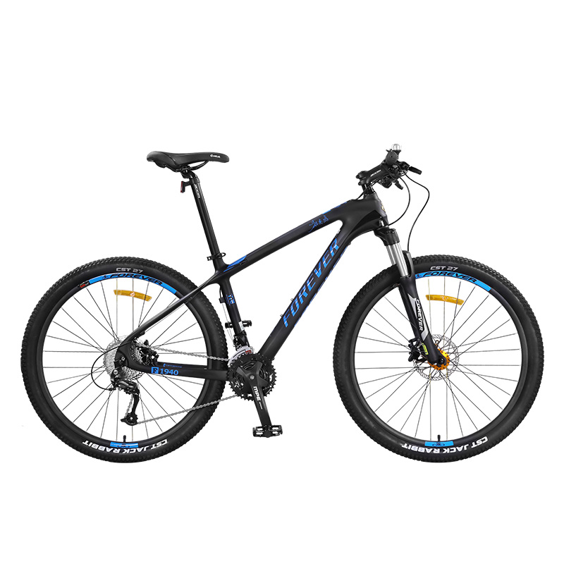27.5 Inches Mountain Bike Male Carbon Fiber Frame Double Disc Brake Spring Fork Suitable For 162-195cm
