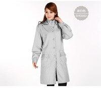 Для женщин стиль серебро волокна электромагнитного излучения пальто с крышкой, компьютерный зал, электрические завода EMF Экранирование, RFID