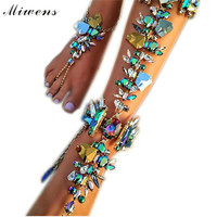 Miwens Hot New Fashion 2016 Ankle Wedding Barefoot Sandals Beach Foot Jewelry Sexy Pie Leg Chain