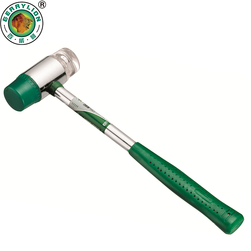 BERRYLION 25mm Rubber Hammer Auction Installation Hammer Mallet With Steel Handle Hand Tools 295mm dismountable cross peen hammer safety hammer rubber head wood handle for woodworking metalworking hand tools