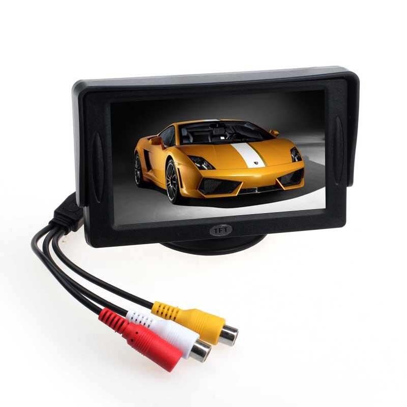 imágenes para 2016 Nueva Caliente de 4.3 pulgadas TFT Pantalla a Color LCD Monitor Del Coche Del Sensor de Aparcamiento de Vídeo para TV del Revés del Rearview Cámara de Copia de seguridad