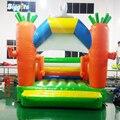 Ярд коммерческий Подгонянный форма надувная морковь прыжок дом воздуха Jumper игра с воздуходувками